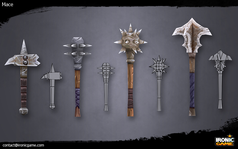 Low Poly Maces