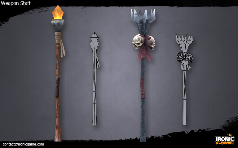 Low Poly Magic Staff